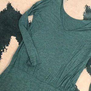 Soft jersey dress teal L